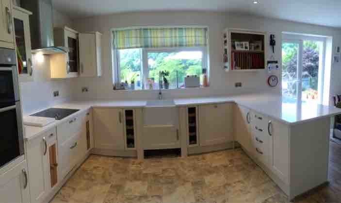 White Kitchen With Wooden Worktops what colour goes well in a white kitchen with wooden worktops?