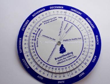 Pregnancy due date wheel in Australia