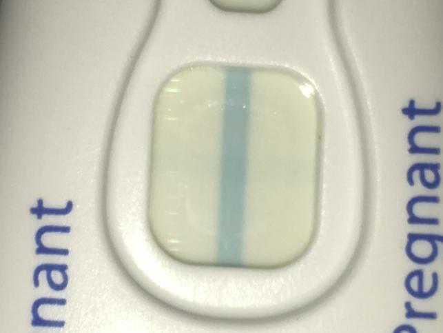 Meget meget tynd streg On Clear Blue test, er jeg gravid-8238