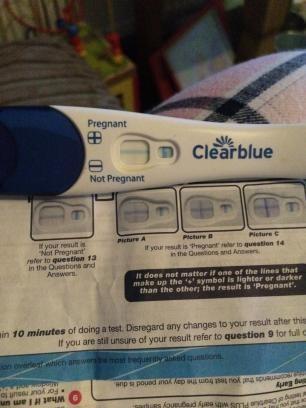 clear blue rapid pregnancy test faint line