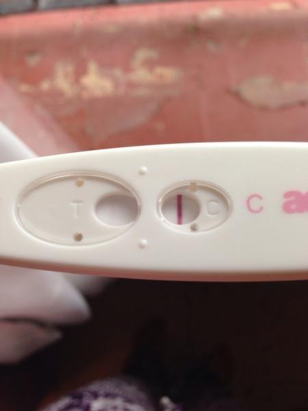 VERY VERY faint positive , but period aches | Netmums