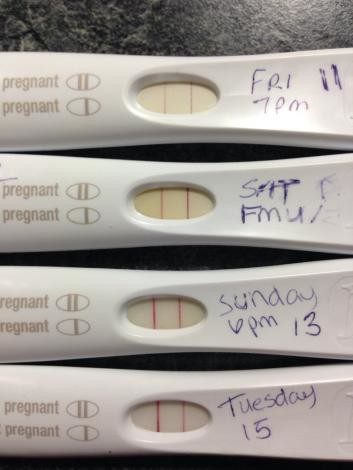 Anyone else had as strong positive at 13dpo? | Netmums - Page: 3