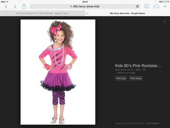 4a1fc1ffd4d 80s Fancy Dress For A 7 Year Old Help! - Netmums Chat