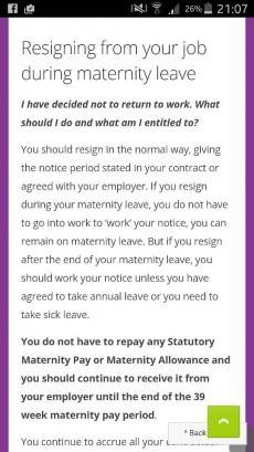 Handing in notice whilst on mat leave netmums chat attached images altavistaventures Choice Image
