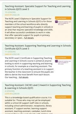 Which is the best qualification for a teaching assistant CACHE or ...