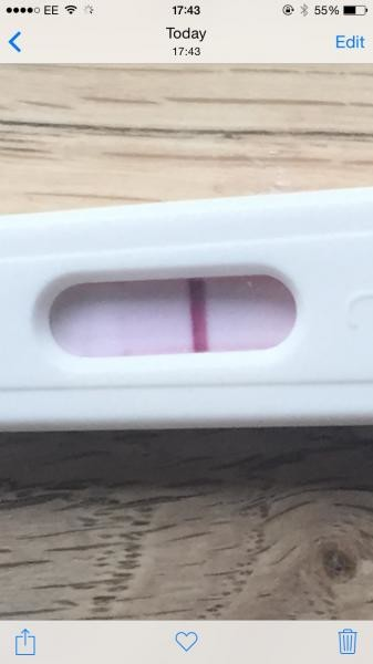 What I Thought Was Faint Bfp Then It Disappeared Pic Included