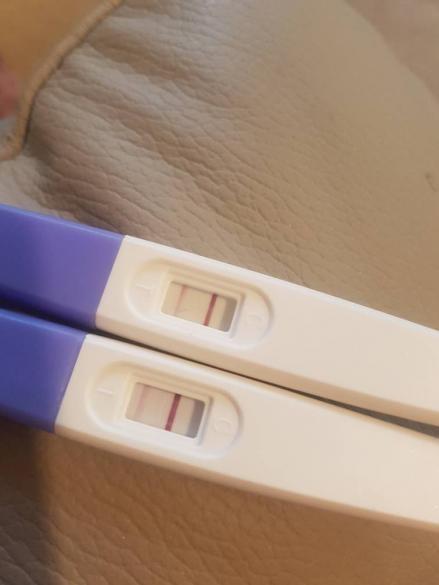 Very Light Positive Pregnancy Test