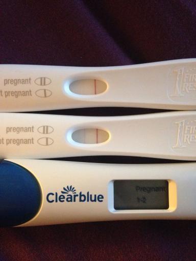 Faint line on pregnancy test
